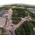 Uusi ympyrä ja parkkipaikan liittymä - Kuva: Tuomas Heinonen