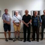 Lintuparatiisikirjan kuvaajia, Timo, Bore, Jukka, Esa ja Paul - kuva Pirjo Lamberg