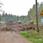 Suomenlahdentien työmaa Hannuspellon metsässä - Kuva: Tommi Heinonen