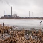 Altaan itäinen ja pohjoinen reuna ovat vielä jäässä - Kuva: Timo Leppäharju