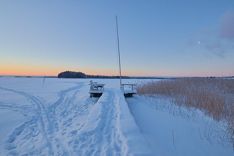Laituri 29 talviaamuna - Kuva: Jukka Ranta