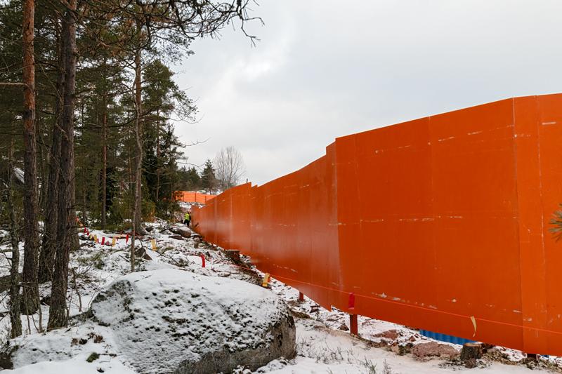 Länsimetron värit näkyvät - Kuva: Jukka Ranta