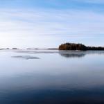 Nuottalahti oli lauantaiaamuna jäässä - Kuva: Jukka Ranta
