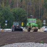 Bondaksen sillalla tehdään asfaltointia - Kuva: Jukka Ranta