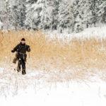 Myös talvella on mahdollista tavata tuttuja Suomenojalla