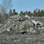 Kasoja on täyttömäen paikalla vielä jäljellä - Kuva: Jukka Ranta