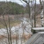 """Vesi on korkealla, tulvaniitty on """"järvi"""" - Kuva: Tommi Heinonen"""