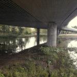 Puro tulvii - sillan alus sunnuntaina - Kuva: Timo Leppäharju