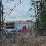 Aukko metsässä, uusi reitti, lämpöputkelta nähtynä - Kuva Jukka Ranta