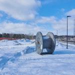 Kaitaantien vartta myllerretään - Kuva: Jukka Ranta