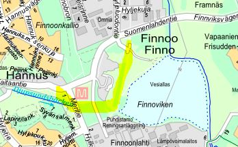 Työmaa-alueen sijainti - Kuva: Espoon kaupunki