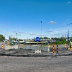 Liikenneympyrää kunnostettiin - Kuva Jukka Ranta